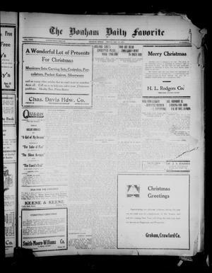 Primary view of The Bonham Daily Favorite (Bonham, Tex.), Vol. 23, No. 121, Ed. 1 Friday, December 24, 1920