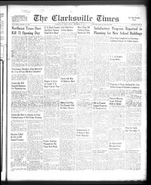 Primary view of object titled 'The Clarksville Times (Clarksville, Tex.), Vol. 83, No. 45, Ed. 1 Friday, November 18, 1955'.