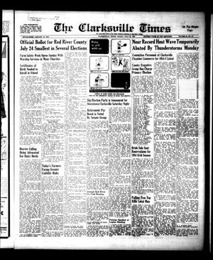 Primary view of object titled 'The Clarksville Times (Clarksville, Tex.), Vol. 88, No. 27, Ed. 1 Friday, July 23, 1954'.