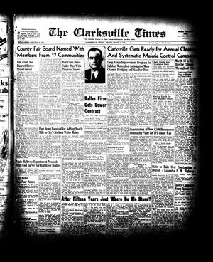 Primary view of object titled 'The Clarksville Times (Clarksville, Tex.), Vol. 76, No. [8], Ed. 1 Friday, March 12, 1948'.