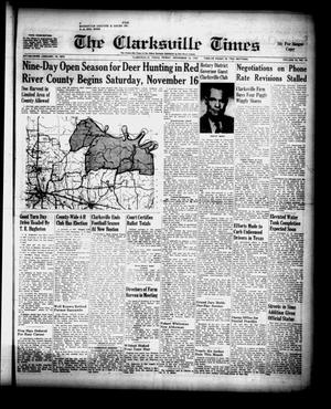 Primary view of object titled 'The Clarksville Times (Clarksville, Tex.), Vol. 85, No. 44, Ed. 1 Friday, November 15, 1957'.