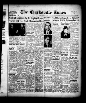 Primary view of object titled 'The Clarksville Times (Clarksville, Tex.), Vol. 85, No. 5, Ed. 1 Friday, February 15, 1957'.