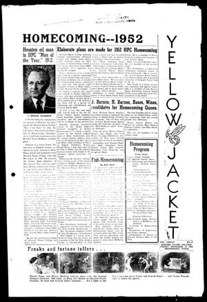 Primary view of object titled 'Yellow Jacket (Brownwood, Tex.), Vol. 37, No. 8, Ed. 1, Friday, November 14, 1952'.
