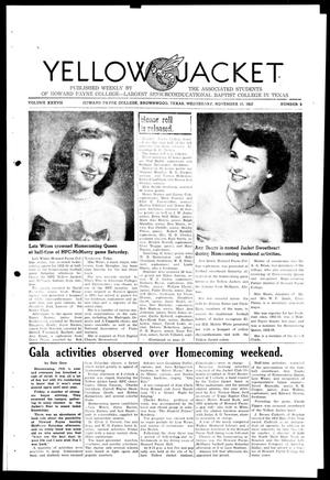 Primary view of object titled 'Yellow Jacket (Brownwood, Tex.), Vol. 37, No. 9, Ed. 1, Wednesday, November 19, 1952'.