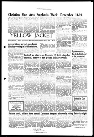 Primary view of object titled 'Yellow Jacket (Brownwood, Tex.), Vol. 37, No. 12, Ed. 1, Wednesday, December 17, 1952'.
