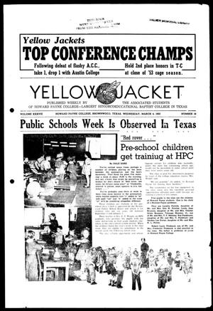 Primary view of object titled 'Yellow Jacket (Brownwood, Tex.), Vol. 37, No. 19, Ed. 1, Wednesday, March 4, 1953'.
