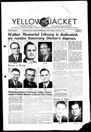 Primary view of object titled 'Yellow Jacket (Brownwood, Tex.), Vol. 37, No. 21, Ed. 1, Tuesday, March 24, 1953'.