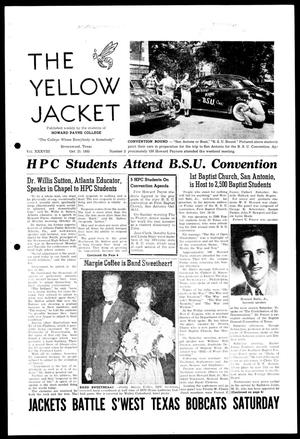Primary view of object titled 'The Yellow Jacket (Brownwood, Tex.), Vol. 38, No. 3, Ed. 1, Wednesday, October 21, 1953'.