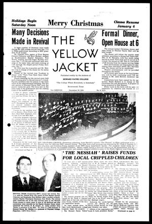 Primary view of object titled 'The Yellow Jacket (Brownwood, Tex.), Vol. 38, No. 9, Ed. 1, Wednesday, December 16, 1953'.