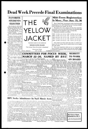 Primary view of object titled 'The Yellow Jacket (Brownwood, Tex.), Vol. 38, No. 10, Ed. 1, Wednesday, January 13, 1954'.