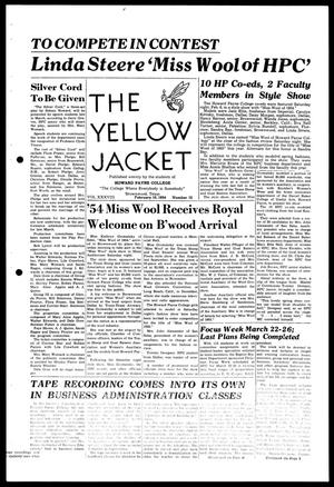 Primary view of object titled 'The Yellow Jacket (Brownwood, Tex.), Vol. 38, No. 12, Ed. 1, Wednesday, February 10, 1954'.