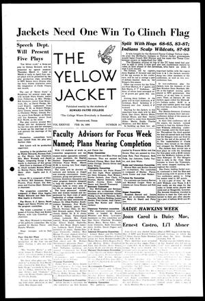 Primary view of object titled 'The Yellow Jacket (Brownwood, Tex.), Vol. 38, No. 14, Ed. 1, Wednesday, February 24, 1954'.