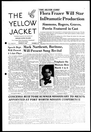 Primary view of object titled 'The Yellow Jacket (Brownwood, Tex.), Vol. 38, No. 16, Ed. 1, Wednesday, March 10, 1954'.