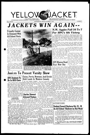 Primary view of object titled 'Yellow Jacket (Brownwood, Tex.), Vol. 41, No. 5, Ed. 1, Tuesday, October 12, 1954'.