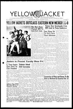 Primary view of object titled 'Yellow Jacket (Brownwood, Tex.), Vol. 43, No. 7, Ed. 1, Wednesday, October 26, 1955'.