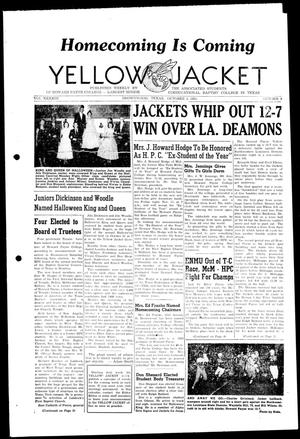 Primary view of object titled 'Yellow Jacket (Brownwood, Tex.), Vol. 43, No. 9, Ed. 1, Thursday, November 3, 1955'.