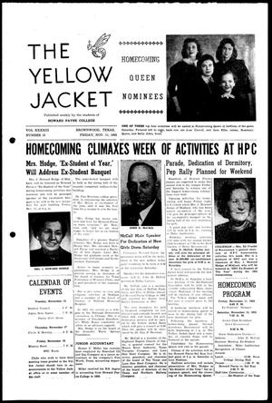 Primary view of object titled 'The Yellow Jacket (Brownwood, Tex.), Vol. 43, No. 10, Ed. 1, Friday, November 11, 1955'.