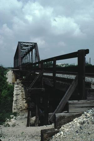 Primary view of object titled '[Leon River RR Bridge]'.