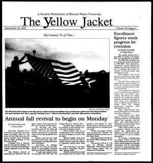 Primary view of object titled 'The Yellow Jacket (Brownwood, Tex.), Vol. 92, No. 3, Ed. 1, Thursday, September 20, 2001'.