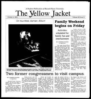 Primary view of object titled 'The Yellow Jacket (Brownwood, Tex.), Vol. 92, No. 5, Ed. 1, Thursday, October 4, 2001'.