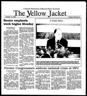 Primary view of object titled 'The Yellow Jacket (Brownwood, Tex.), Vol. 92, No. 6, Ed. 1, Thursday, October 11, 2001'.