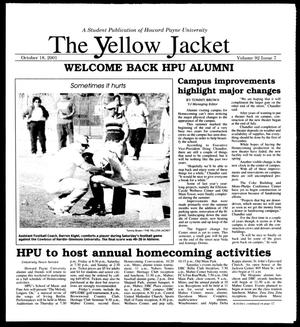 Primary view of object titled 'The Yellow Jacket (Brownwood, Tex.), Vol. 92, No. 7, Ed. 1, Thursday, October 18, 2001'.