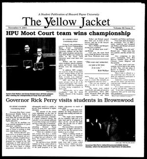 Primary view of object titled 'The Yellow Jacket (Brownwood, Tex.), Vol. 92, No. 9, Ed. 1, Thursday, November 8, 2001'.