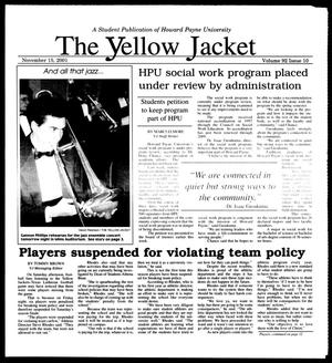 Primary view of object titled 'The Yellow Jacket (Brownwood, Tex.), Vol. 92, No. 10, Ed. 1, Thursday, November 15, 2001'.