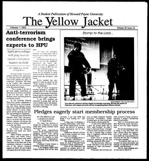 Primary view of object titled 'The Yellow Jacket (Brownwood, Tex.), Vol. 92, No. 16, Ed. 1, Thursday, February 7, 2002'.