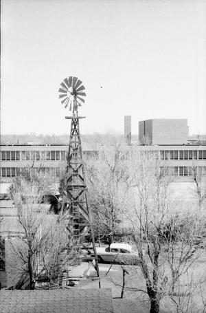 Primary view of object titled '[Windmill by Hereford High School]'.