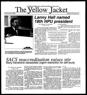 Primary view of object titled 'The Yellow Jacket (Brownwood, Tex.), Vol. 93, No. 10, Ed. 1, Tuesday, February 4, 2003'.