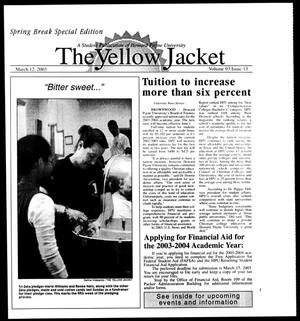 Primary view of object titled 'The Yellow Jacket (Brownwood, Tex.), Vol. 93, No. 13, Ed. 1, Wednesday, March 12, 2003'.