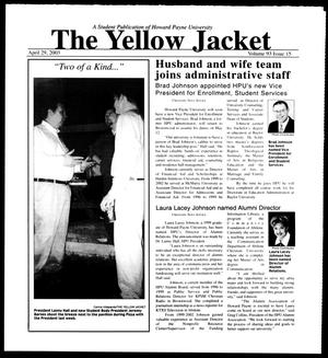 Primary view of object titled 'The Yellow Jacket (Brownwood, Tex.), Vol. 93, No. 15, Ed. 1, Tuesday, April 29, 2003'.