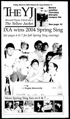 The Yellow Jacket (Brownwood, Tex.), Vol. 94, No. 11, Ed. 1, Friday, March 5, 2004