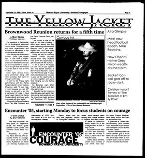 Primary view of object titled 'The Yellow Jacket (Brownwood, Tex.), [Vol. 96], No. 1, Ed. 1, Friday, September 23, 2005'.