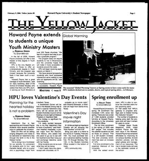 Primary view of object titled 'The Yellow Jacket (Brownwood, Tex.), [Vol. 96], No. 8, Ed. 1, Thursday, February 9, 2006'.