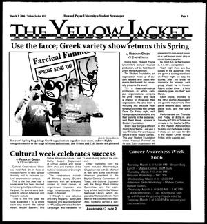 Primary view of object titled 'The Yellow Jacket (Brownwood, Tex.),  [Vol. 96], No. 11, Ed. 1, Friday, March 3, 2006'.