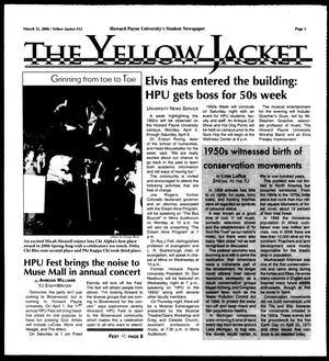 Primary view of object titled 'The Yellow Jacket (Brownwood, Tex.),  [Vol. 96], No. 12, Ed. 1, Friday, March 31, 2006'.