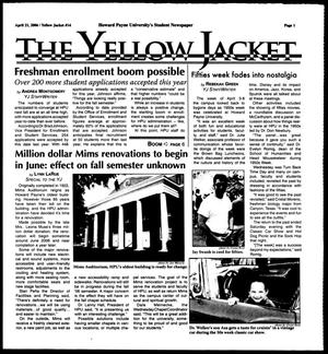Primary view of object titled 'The Yellow Jacket (Brownwood, Tex.),  [Vol. 96], No. 14, Ed. 1, Friday, April 21, 2006'.