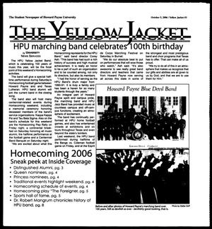 Primary view of object titled 'The Yellow Jacket (Brownwood, Tex.), Vol. 97, No. 3, Ed. 1, Thursday, October 5, 2006'.