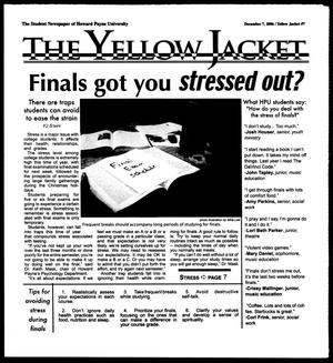 Primary view of object titled 'The Yellow Jacket (Brownwood, Tex.), Vol. 97, No. 7, Ed. 1, Thursday, December 7, 2006'.