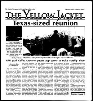 The Yellow Jacket (Brownwood, Tex.), Vol. 98, No. 2, Ed. 1, Thursday, September 20, 2007