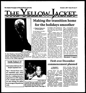 Primary view of object titled 'The Yellow Jacket (Brownwood, Tex.), Vol. 98, No. 7, Ed. 1, Thursday, December 6, 2007'.