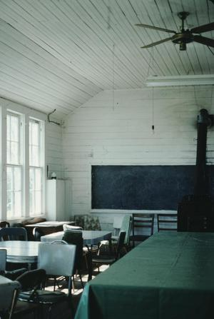 Primary view of object titled '[Rheingold Schoolhouse Interior]'.