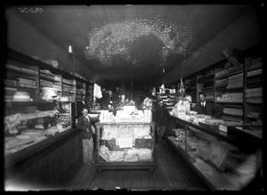 Primary view of object titled '[Interior View of Wm. H. Ellis Dry Goods]'.