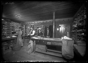 Primary view of object titled '[Interior View of United States Post Office]'.