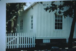 Primary view of object titled '[Hendrickson-Caskey House, (painted white, no skirting)]'.