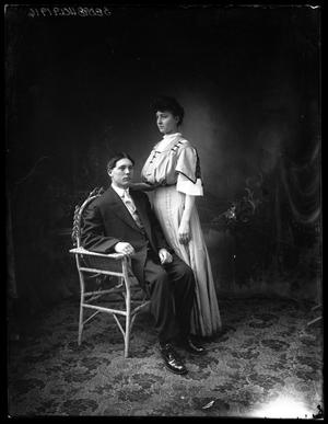Primary view of object titled '[Portrait of Woman and Man]'.