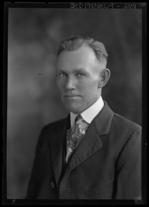 Primary view of object titled '[Portrait of Man in Suit]'.