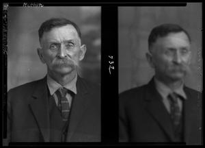 Primary view of object titled '[Two Portraits of Man in Suit]'.